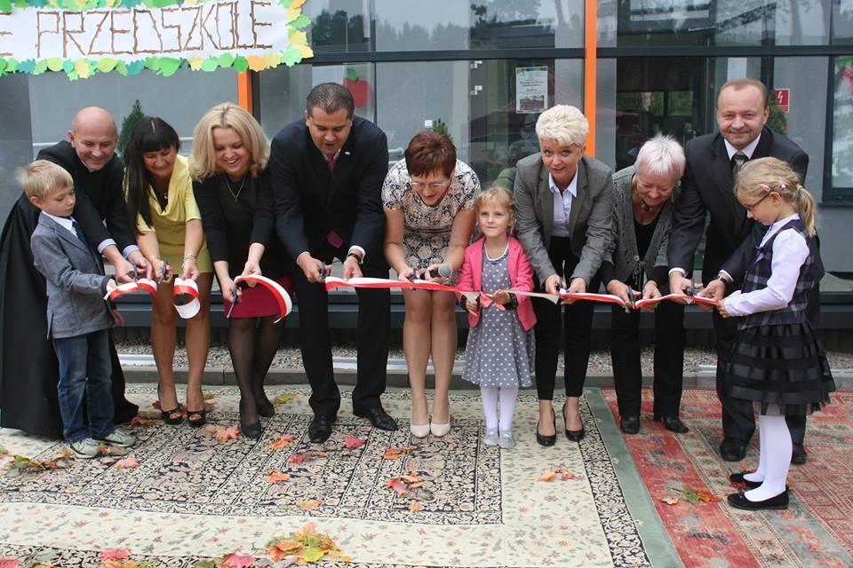Uroczyste otwarcie ioddanie nowego budynku przedszkola iżłobka 11.09.2014
