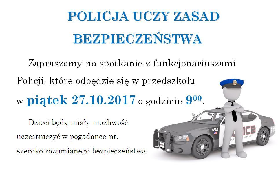 Zaproszenie na spotkanie z funkcjonariuszami policji