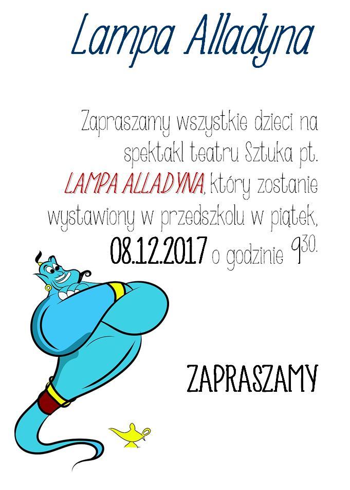 "Spektakl teatru Sztuka pt.""Lampa Alladyna"""