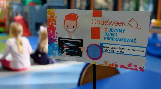 """""""Code week"""" wprzedszkolu 07-11.10.2019"""